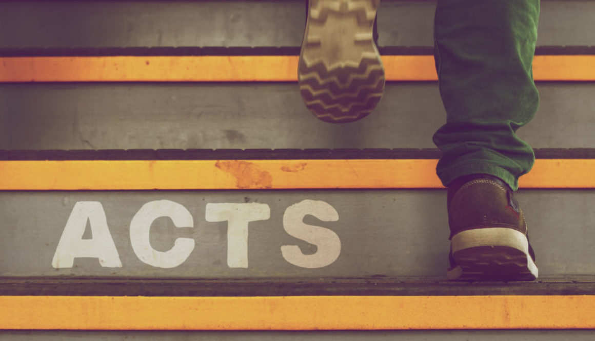 Acts Series Banner - Picture of Man Going Up The Steps