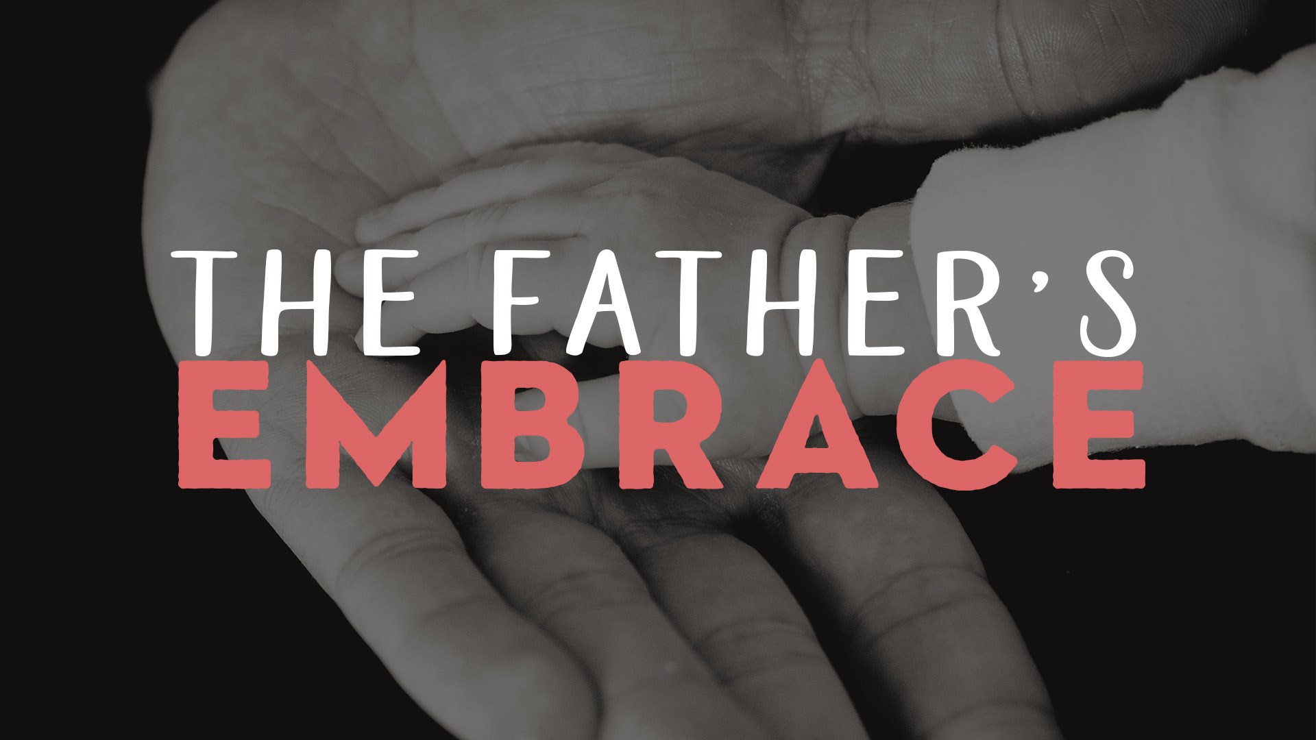 Father's Embrace Series Banner - Picture of Father's Hands Holding Child's Hands