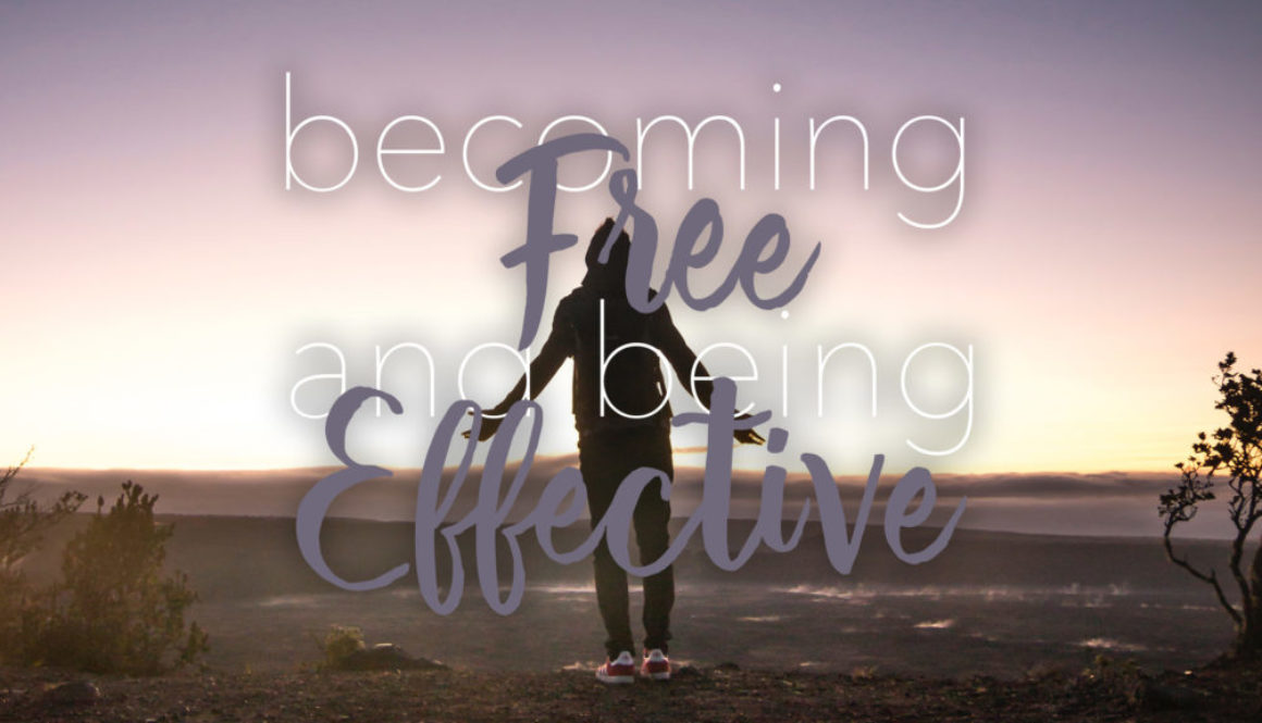 Becoming Free and Being Effective Series - Picture of person standing in an open field