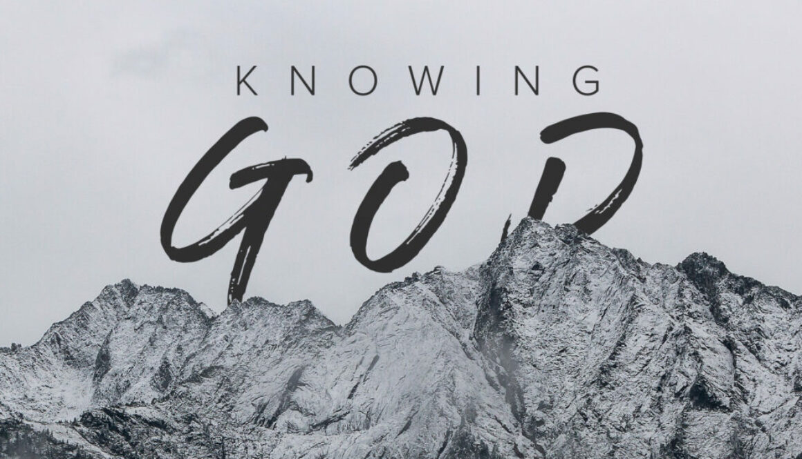 Knowing God Banner - Mountains