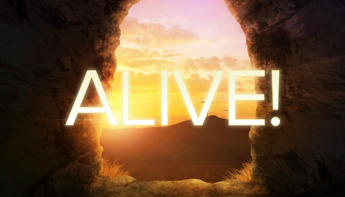 Alive Bold Logo - 3 Crosses on the Horizon